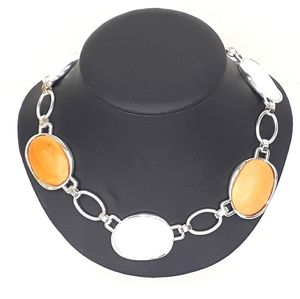 Baskin Brothers Silver & Stone Necklace